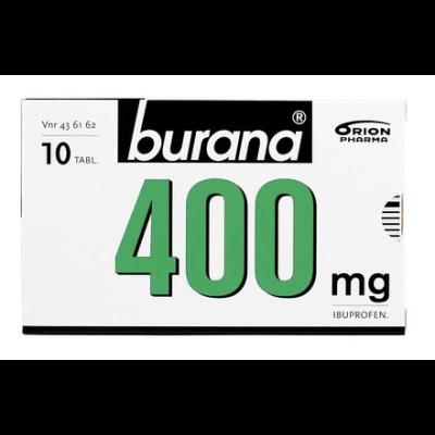 BURANA 400 mg tabl, kalvopääll 10 fol