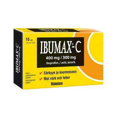IBUMAX-C 400/300 mg tabl, kalvopääll 10 fol