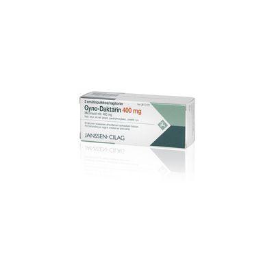 GYNO-DAKTARIN 400 mg emätinpuikko, kaps, pehmeä 3 fol