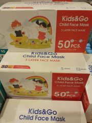 Child face mask 3 layer 50kpl
