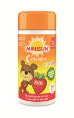 Minisun Junior C-vitamiini mansikka 80 tabl