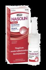 NASOLIN 1 mg/ml nenäsumute, liuos (säilytysaineeton)10 ml
