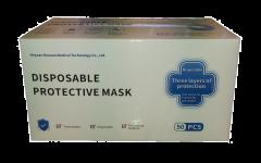 Face Mask Kasvonsuojus 3 krs  kumilenkillä 50 kpl